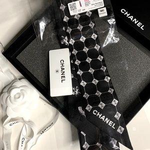 NEW Chanel CC Slim Bandeau Scarf